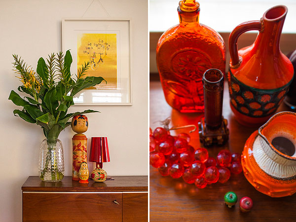 Manuela's artwork and her gorgeous pottery collections adorning her beautiful home