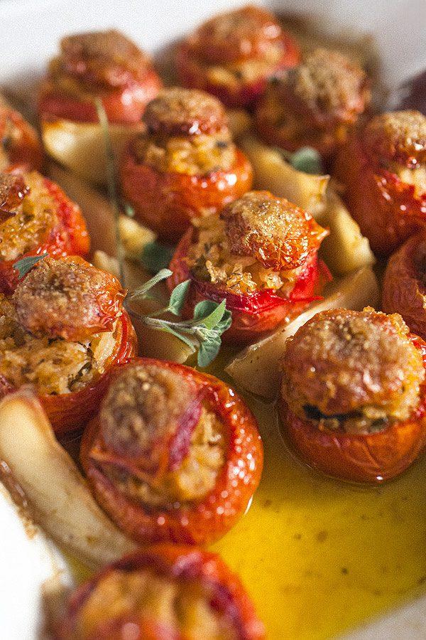 Greek Stuffed Tomatoes Domates Yemistes Who Does The